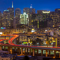 San Francisco From Potrero Hill by Inge Johnsson