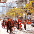 San Francisco Market Street . 40d3701 by Wingsdomain Art and Photography