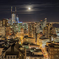 San Francisco Moon by Trekkerimages Photography