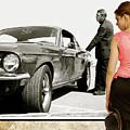 San Francisco Museum Of Art, Frank Bullitt, Steve Mcqueen, Ford Mustang Gt 390, Fastback by Thomas Pollart
