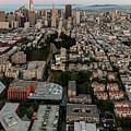 San Francisco Skyline And Coit Towersan Francisco Skyline And Coit Tower by David Oppenheimer