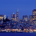 San Francisco Skyline At Dusk by David Rout
