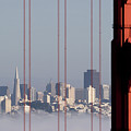 San Francisco Skyline From Golden Gate Bridge by Mona T. Brooks