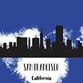 San Francisco Skyline Silhouette by Anna Maloverjan