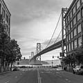 San Francisco Street And Bay Bridge  by John McGraw