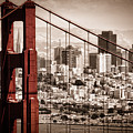 San Francisco Through The Bridge by Matt  Trimble
