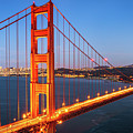 San Francisco Through The Golden Gate Bridge At Dusk by James Udall