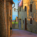 San Gimignano Alley by Inge Johnsson