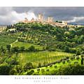 San Gimignano Tuscany Italy by Carl Amoth