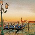 San Giorgio Maggiore Venice Gondolas by Anthony Murphy
