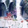 San Juan Capistrano In The Courtyard by Theo  Snell