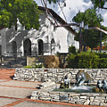 San Luis Mission Fountain by Sharon Foster