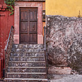 San Miguel Steps And Door by Lindley Johnson
