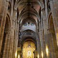 San Vicente Basilica Interior Avila Spain by Joan Carroll