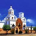 San Xavier Del Bac Mission by M Diane Bonaparte