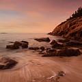 Sand Beach At Sunrise by Ed Lowe