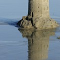 Sand Castle Island And Reflection by Bradford Martin