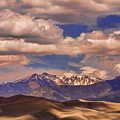 Sand Dunes - Mountains - Snow- Clouds And Shadows by James BO  Insogna