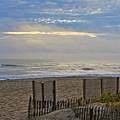Sand Fence And Beach by Rand Wall