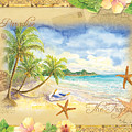 Sand Sea Sunshine On Tropical Beach Shores by Audrey Jeanne Roberts