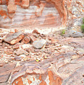 Sandstone Colors In Wash 3 - Valley Of Fire by Ray Mathis