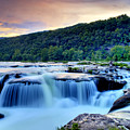 Sandstone Falls At Sunset In West Virginia   Hdr by Brendan Reals