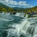 Sandstone Falls New River  by Thomas R Fletcher