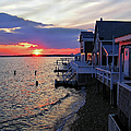Sandy Neck Sunset At The Cottages by Charles Harden