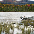 Sandy Stream Pond View Of Baxter Peak In Baxter State Park Maine by Brendan Reals