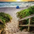 Sandy Walk Down To The Beach by Debra and Dave Vanderlaan