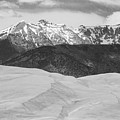 Sangre De Cristo Mountains And The Great Sand Dunes Bw by James BO  Insogna