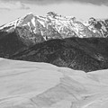 Sangre De Cristo Mountains And The Great Sand Dunes Bw V by James BO  Insogna