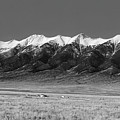 Sangre De Cristos  Dusk In Black And White by Twenty Two North Photography