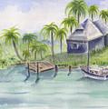 Sanibel Castaways View Over Bay by Ruth Bevan