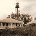Sanibel Light House by Richard Nickson