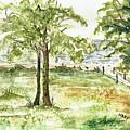 Sanibel Shores Sketch by Mary Tuomi