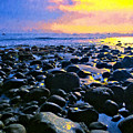Santa Barbara Beach Sunset California by Alicia Hollinger