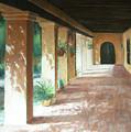 Santa Barbara Mission - The Niche by Laura Wynne