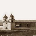 Santa Barbara Mission Circa 1885 by California Views Archives Mr Pat Hathaway Archives