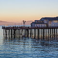 Santa Barbara Wharf At Sunset by Suzanne Luft