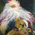Santa Claus Riding Up Front With The Big Guy  by Shelley Schoenherr