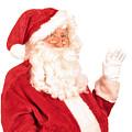 Santa Claus Waving Hand by Amanda Elwell