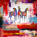 Santa Fe Dreams Horses by Jennifer Morrison Godshalk