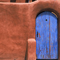 Santa Fe Gate No. 3 - Rustic Adobe Antique Door Home Country Southwest by Jon Holiday