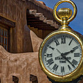 Santa Fe Plaza Clock by Stuart Litoff