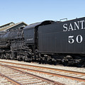 Santa Fe Steam Locomotive Engine Number 5021 At Old Sacramento California Dsc4923 by Wingsdomain Art and Photography