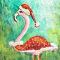 Santa Flamingo by Patricia Piffath