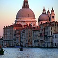 Santa Maria Della Salute On Grand Canal In Venice In Evening Light by Michael Henderson