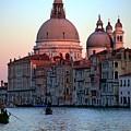 Santa Maria Della Salute On Grand Canal In Venice In Evening Light by Michael Henderson