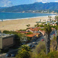 Santa Monica Ca Steps Palisades Park Bluffs  by David Zanzinger